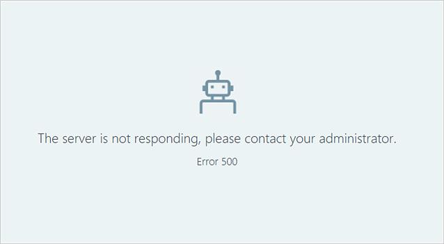 error 50 là gì